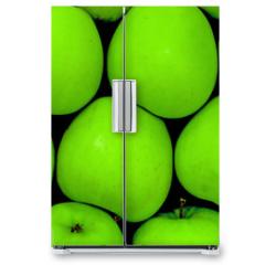 Naklejka na lodówkę - green apples