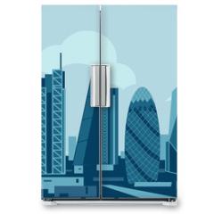 Naklejka na lodówkę - London City Skyline