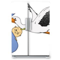 Naklejka na lodówkę - Baby, Klapperstorch, Geburt, Schwanger, Schwangerschaft
