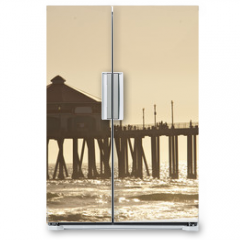 Naklejka na lodówkę - huntigton beach pier 2 of 4