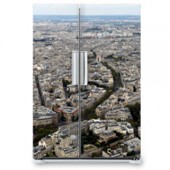 Naklejka na lodówkę - metropolis of Paris in France from the top of the Eiffel Tower