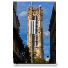 Naklejka na lodówkę - Paris. Tower of Saint Jacques.