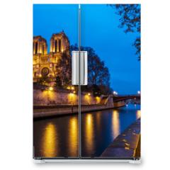 Naklejka na lodówkę - Cathedral Notre Dame de Paris