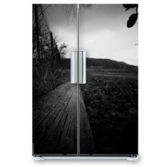 Naklejka na lodówkę - Rural view to the countryside