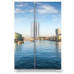 Naklejka na lodówkę - Die Skyline von London am Morgen: entlang der Themse mit Blick auf die City und London Bridge