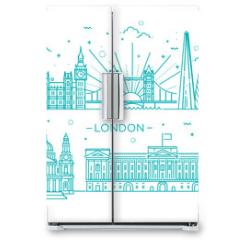 Naklejka na lodówkę - Linear banner of London city