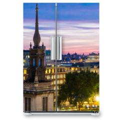 Naklejka na lodówkę - View of London at Night