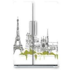 Naklejka na lodówkę - The Eiffel Tower vector