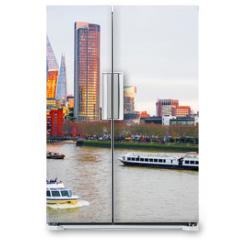 Naklejka na lodówkę - Cityscape of London, River Thames
