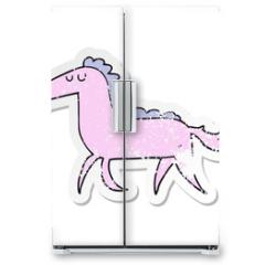 Naklejka na lodówkę - distressed sticker of a cartoon horse