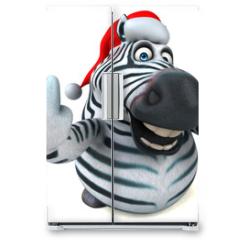 Naklejka na lodówkę - Fun zebra - 3D Illustration