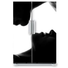 Naklejka na lodówkę - Young caucasian couple