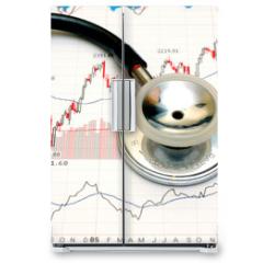 Naklejka na lodówkę - stock chart analysis - concept