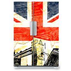 Naklejka na lodówkę - drapeau anglais