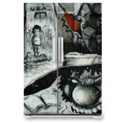 Naklejka na lodówkę - graffiti