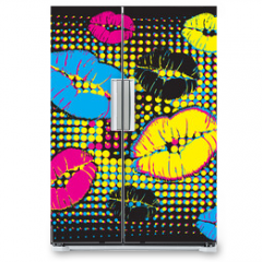 Naklejka na lodówkę - pop art design