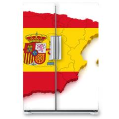 Naklejka na lodówkę - 3D Map of Spain
