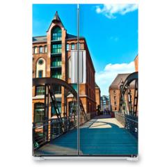 Naklejka na lodówkę - Speicherstadt in Hamburg