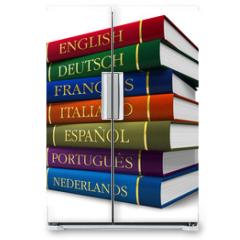 Naklejka na lodówkę - Stack of dictionaries