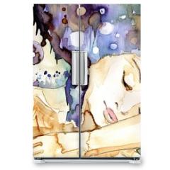 Naklejka na lodówkę - marzenia senne