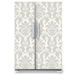 Naklejka na lodówkę - Vector seamless floral damask pattern