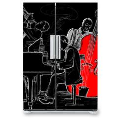 Naklejka na lodówkę - Jazz band
