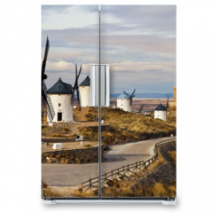 Naklejka na lodówkę - windmills of Don Quixote -traditional Spain