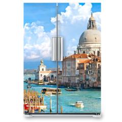 Naklejka na lodówkę - Venice, view of grand canal and basilica of santa maria della sa
