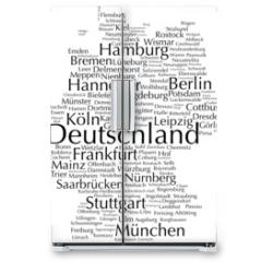 Naklejka na lodówkę - Deutschland