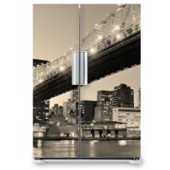 Naklejka na lodówkę - New York City night panorama