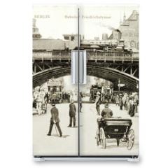 Naklejka na lodówkę - Friedrichstrasse Postcard