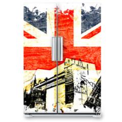 Naklejka na lodówkę - drapeau anglais decoupe