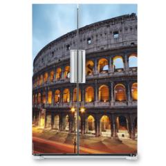 Naklejka na lodówkę - Coliseum at night. Rome - Italy