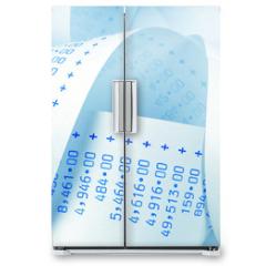 Naklejka na lodówkę - Rechenstreifen mit Zahlen.