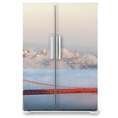 Naklejka na lodówkę - Golden Gate Bridge and San Francisco panorama