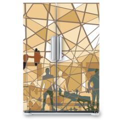 Naklejka na lodówkę - Mosaic gym