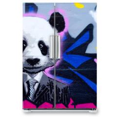 Naklejka na lodówkę - Suited panda