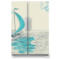 Naklejka na lodówkę - Sailing vector background