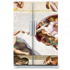 Naklejka na lodówkę - Creation of Adam by Michelangelo, Sistine Chapel, Rome