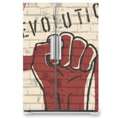 Naklejka na lodówkę - Revolution! vector illustration, EPS10