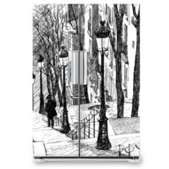 Naklejka na lodówkę - Montmartre in Paris