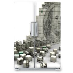 Naklejka na lodówkę - Puzzle dollar