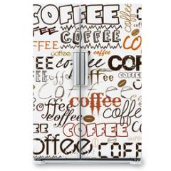 Naklejka na lodówkę - Coffee background