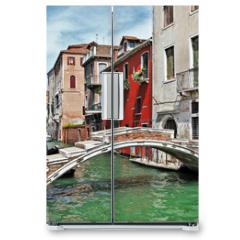 Naklejka na lodówkę - pictorial Venetian streets