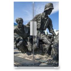 Naklejka na lodówkę - Warsaw Uprising Monument in Warsaw - closeup