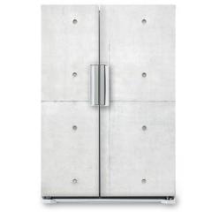 Naklejka na lodówkę - Abstract background, grey cement wall