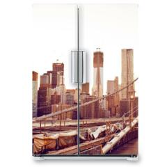 Naklejka na lodówkę - Brooklyn Bridge in New York