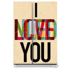 Naklejka na lodówkę - Valentine's Day type text calligraphic