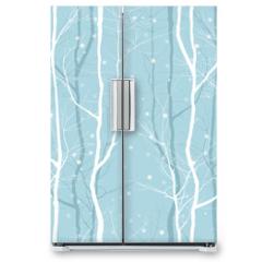 Naklejka na lodówkę - trees seamless