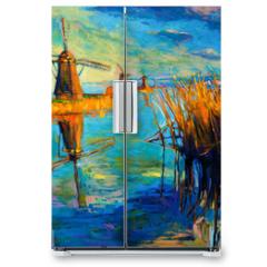 Naklejka na lodówkę - Windmills